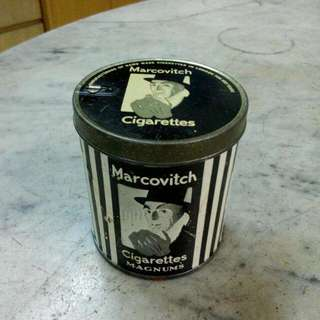 England Marcovitch Black & White Cigarettes Magnums Tin Vintage