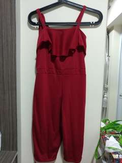 Red ruffle jumpsuit