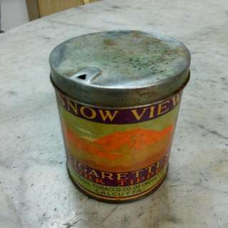 Snow View Cigarettes Tin Vintage