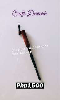Ash Bush Calligraphy Oblique Pen Holder