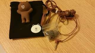 Line Friends 熊大earphone