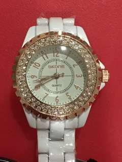Ladies waterproof bling bling watch