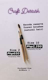 Escoda Reserva Natural Sable Hair Travel Watercolor Brushes