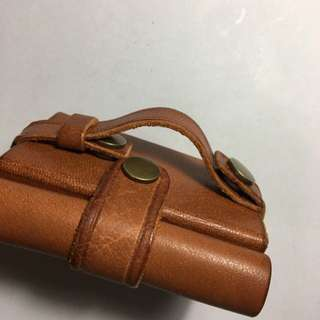 Leather headphone amplifier cover
