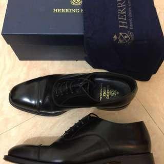 Herring Knightsbridge Oxford Shoes - Polished Leather Black