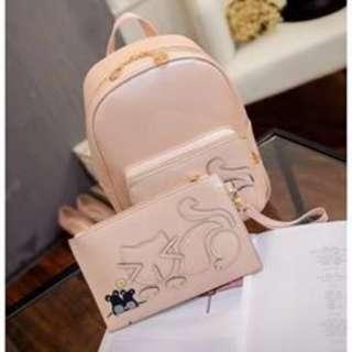 korean bag pack 2 in 1