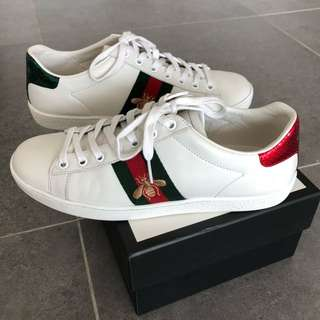 AUTHENTIC GUCCI ACE EMBROIDERED SNEAKER