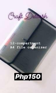 12-Compartment A4 File Organizer