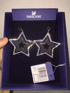 BNIB swarovski star earrings