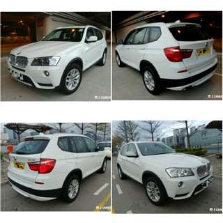 2011 BMW X3 28ia, 3000cc, Glass roof, 玻璃天幕頂, 52000km