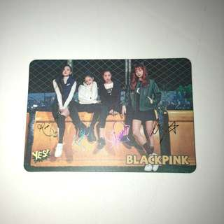 Blackpink Yes!card 第27期 簽卡