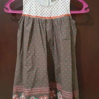 Dress katun polkadot