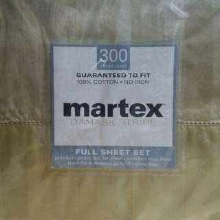 MARTEX Damask Stripe Full Sheet Set