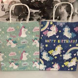 Party goodie bag - unicorn paper bag 💕