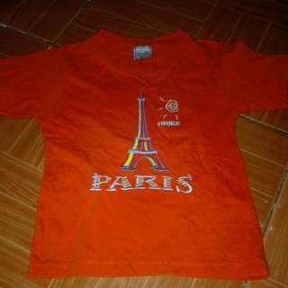 Paris shirt  1-2yrs