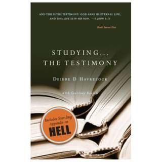 Studying ... The Testimony: Build a Strong Foundation for Your Christian Testimony (The Testimony Series Book 1) Kindle Edition by Deidre D Havrelock (Author)