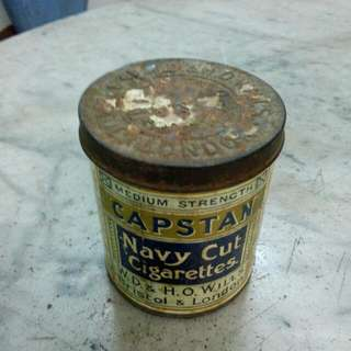 Capstan Navy Cut Cigarettes Tin Vintage
