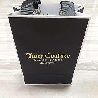 Juicy Couture black label paper bag Authentic