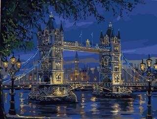 數字油畫 - 倫敦塔橋