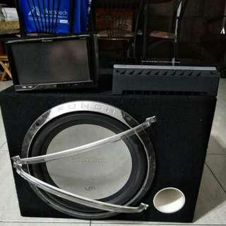 Pioneer head unit Rockford amp and sub