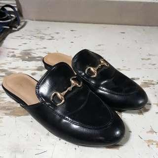 Black mules slides (size 6)
