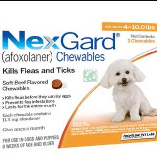 Preorder with Free Normal Mail- Nexgard (3 pieces) for Dogs below 4kg