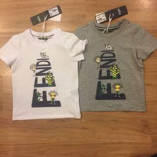 🆕👦🏻👧🏻SALE🎉🛍 Authentic FENDI Tee for 2, 4 & 6 years old