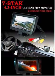"Car Rearview Monitor- 4.3"" inch Reverse LCD Monitor - 7inch Rear View Monitor - Car Camera - Reverse Car Camera - 4inch - 5inch LCD TFT Monitor"