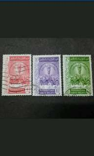 Federation Of Malaya 1959 Inauguration Parliament Complete Set - 3v Used Stamps #2