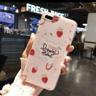 Strawberry Embossed Silicon Print for Iphone 7Plus
