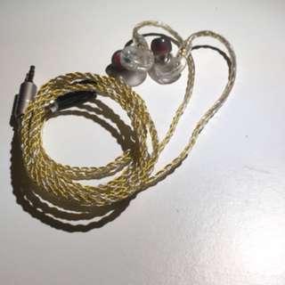 6 Core SPC Litz MMCX Cable