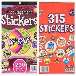(Instock) 230/315 Teacher Motivational Reward Sticker