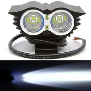 LED Owl Eye 20W Motorcycle Headlight Lamp 2000LM 6000K