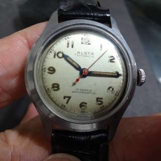 A14-ALSTA SWISS MADE.AUTOMATIC WATCH.瑞士制自动古董表.