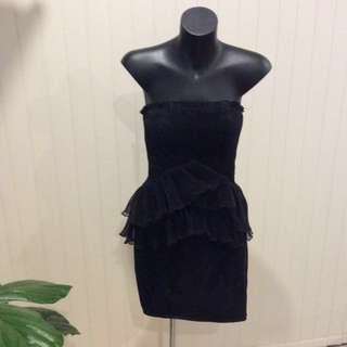 Bariano black party dress