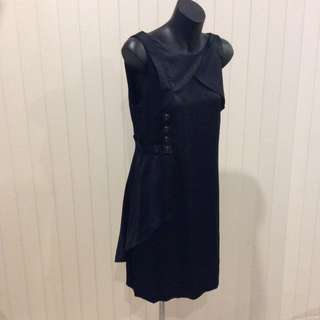 Kachel black silk dress