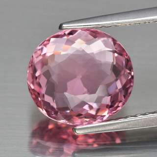 3.15ct Oval Natural Pink Tourmaline - Certified