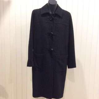 Witchery Black Duffle Coat