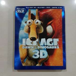 Ice Age Dawn Of The Dinosaurs, Blu-ray 3D + Blu-ray + DVD