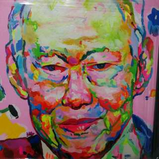 Acrylic Painting LKY Pop Art