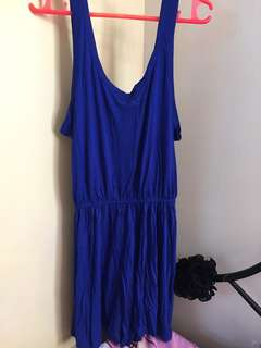 H&M Dark Blue Romper Shorts