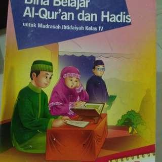 Buku quran hadist kls 4 #UBL2018
