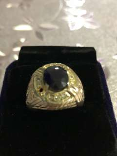 Blue sapphire ring size 19