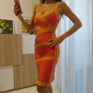 Bandage Dress - Coral