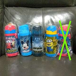 1for$12. 2for$20 Cars McQueen Mickey Mouse Star Wars Minions Spiderman Water Bottle