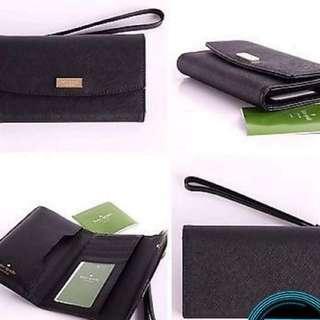 US Authentic Katespade phone wallet black newbury lane