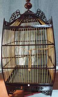 Bird cage - dark brown
