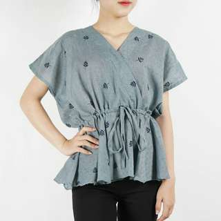 pine leaf blouse