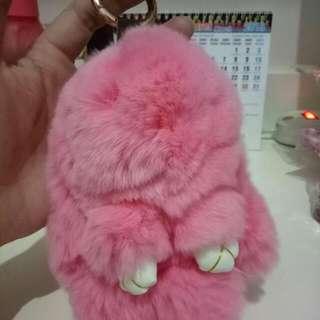 Gantungan Tas Kelinci Pink