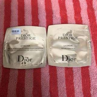 Dior精華及面霜試用裝